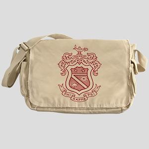Phi Kappa Psi Fraternity Crest in Re Messenger Bag