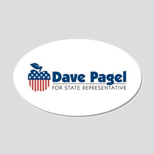 Dave Pagel 22x14 Oval Wall Peel