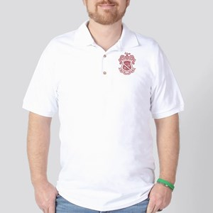 Phi Kappa Psi Fraternity Crest in Red Golf Shirt