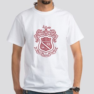 Phi Kappa Psi Fraternity Crest in Re White T-Shirt