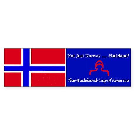 """Not Just Norway"" Bumper Sticker"