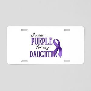 Wear Purple - Daughter Aluminum License Plate