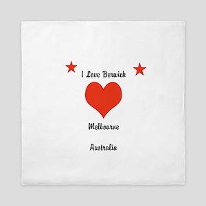 I Love Berwick Queen Duvet