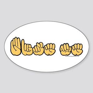 ASL Bite Me Sticker (Oval)