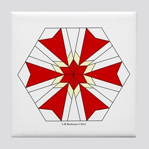 Modernistic Star Tile Coaster