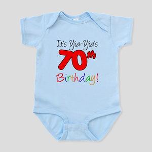 Yia-Yia's 70th Birthday Infant Bodysuit