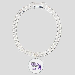 Wear Purple - Son Charm Bracelet, One Charm