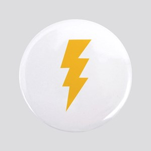 "Yellow Flash Lightning Bolt 3.5"" Button"