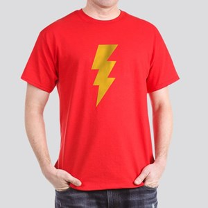 Yellow Flash Lightning Bolt Dark T-Shirt