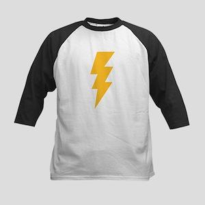 Yellow Flash Lightning Bolt Kids Baseball Jersey
