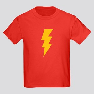 Yellow Flash Lightning Bolt Kids Dark T-Shirt