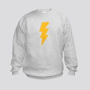 Yellow Flash Lightning Bolt Kids Sweatshirt