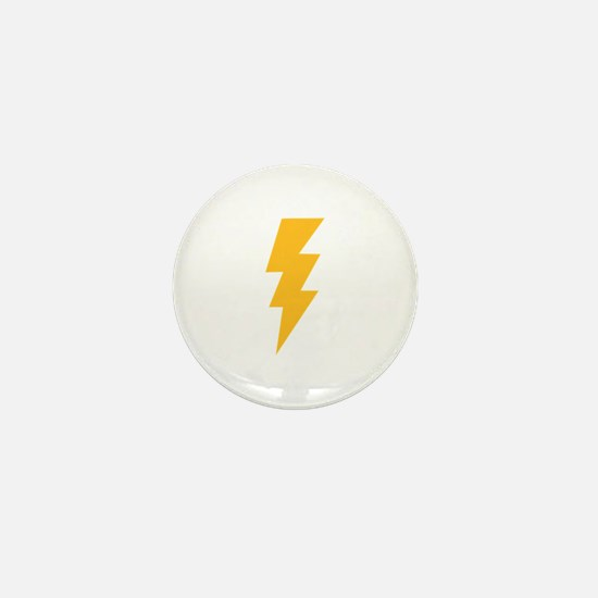 Yellow Flash Lightning Bolt Mini Button