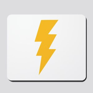 Yellow Flash Lightning Bolt Mousepad