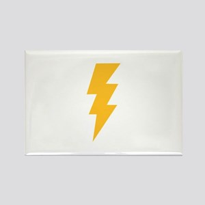 Yellow Flash Lightning Bolt Rectangle Magnet