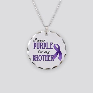 Wear Purple - Brother Necklace Circle Charm