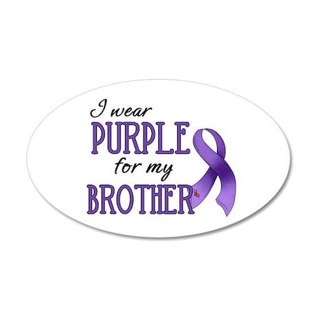 Wear Purple - Brother 22x14 Oval Wall Peel