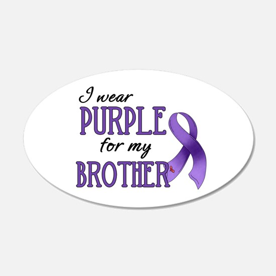 Wear Purple - Brother 22x14 Oval Wall Peel