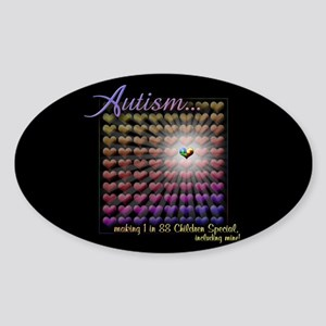 Autism - 1 in 88 Special Sticker (Oval)