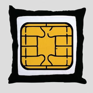 Chip Microchip Throw Pillow