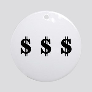 Dollar signs Ornament (Round)
