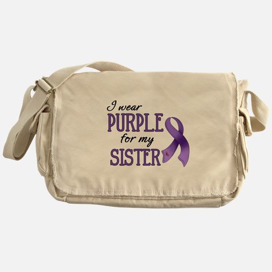 Wear Purple - Sister Messenger Bag