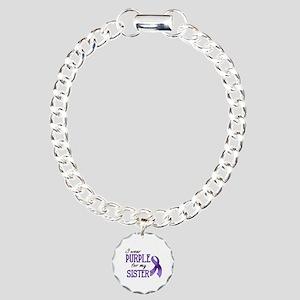 Wear Purple - Sister Charm Bracelet, One Charm