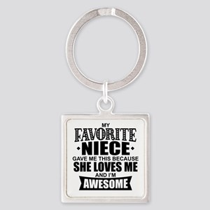 Favorite Niece Square Keychain