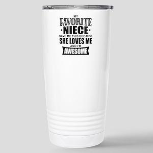 Favorite Niece 16 oz Stainless Steel Travel Mug