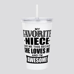 Favorite Niece Acrylic Double-wall Tumbler