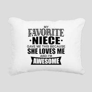 Favorite Niece Rectangular Canvas Pillow