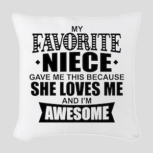 Favorite Niece Woven Throw Pillow