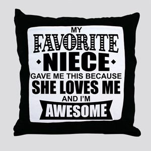 Favorite Niece Throw Pillow