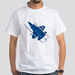 USAF Air Space Cyberspace White T-Shirt