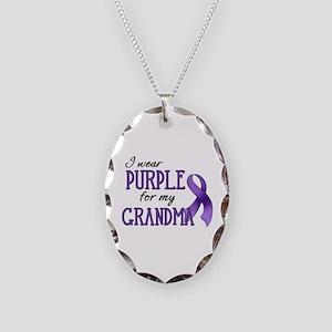 Wear Purple - Grandma Necklace Oval Charm