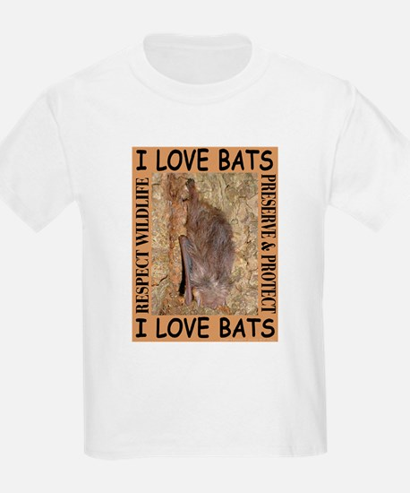 I Love Bats Kids T-Shirt