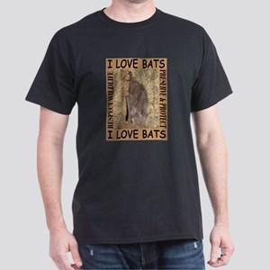 I Love Bats Black T-Shirt