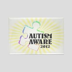 Autism Aware 2012 Rectangle Magnet