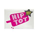 Hip Tot Music Fest Rectangle Magnet (10 pack)