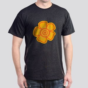 Yellow Flower Dark T-Shirt