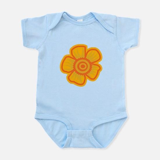 Yellow Flower Infant Bodysuit