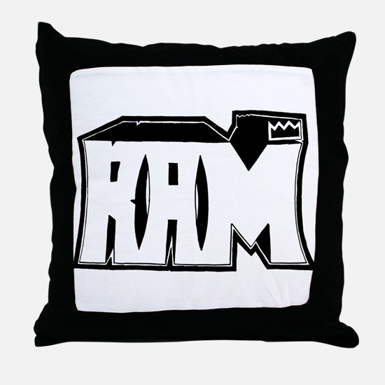 RAM Graffiti Throw Pillow