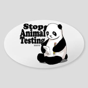 Stop Animal Testing Sticker (Oval)