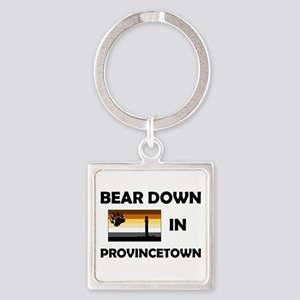 Bear Provincetown Square Keychain