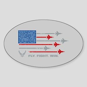 USAF Fly Fight Win Sticker (Oval)