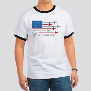 USAF Fly Fight Win Ringer T