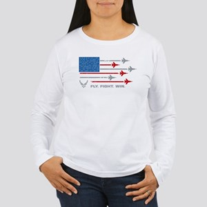 USAF Fly Fight Win Women's Long Sleeve T-Shirt