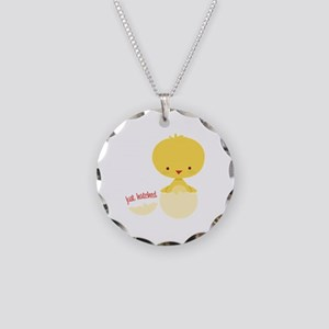 Just Hatched Chicken Necklace Circle Charm