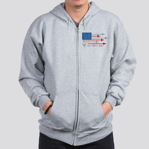 USAF Fly Fight Win Zip Hoodie
