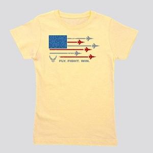 USAF Fly Fight Win Girl's Tee